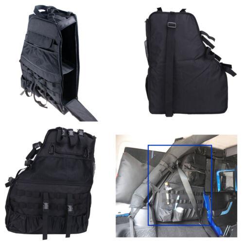 1x Left Roll Bar Storage Cargo Bag Cage Saddlebag For Jeep Wrangle JK 4-door