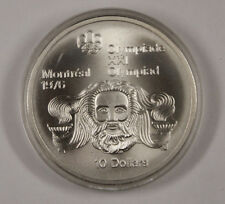 1974 Canada RCM 10 Dollar Silver 1976 Montreal Olympic Games Silver Coin