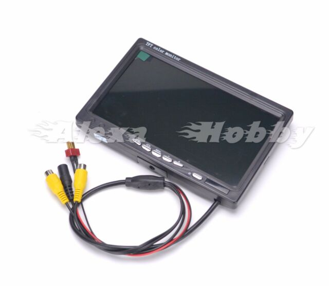 7 inch LCD TFT FPV 1024 x600 Screen No blue Monitor with Sun Hood Shade