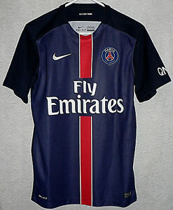 07b13487c7 Paris Saint-Germain FRANCE SOCCER TEAM HOME NIKE 2015 JERSEY Men s ...