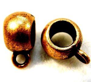 50Pcs. Tibetan Antique Copper BAILS Pendant or Charm Connectors Q1124