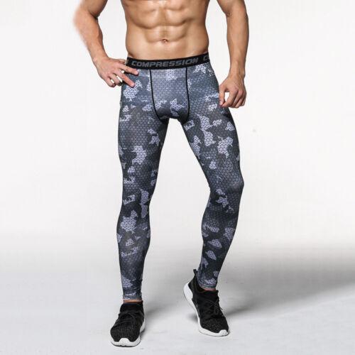 Herren Kompression Tights Leggins Leggings Laufhose Fitness Gym Sport Lang Hose