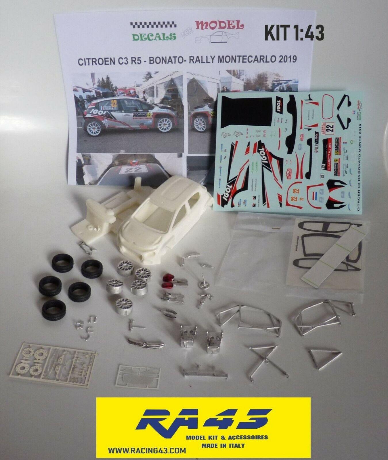 Los mejores precios y los estilos más frescos. 1 43 Citroen C 3 R5 Rally MonteCochelo 2019 2019 2019 Bonato Kit  mejor moda