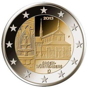 A Berlin Maulbronn Abbey 2013 Germany 2 Euro UNC Coin Baden-Wurttemberg