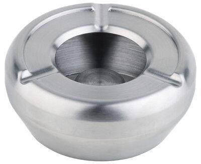 Windaschenbecher Windascher Aschenbecher Ø 9,5 cm weiß Glas gefrostet Gastlando