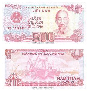 Vietnam-500-Dong-1988-P-101a-BANCONOTE-UNC