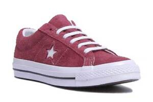 479e97a03d7d9c Converse One Star Premium Suede Women Suede Leather Maroon Trainers ...