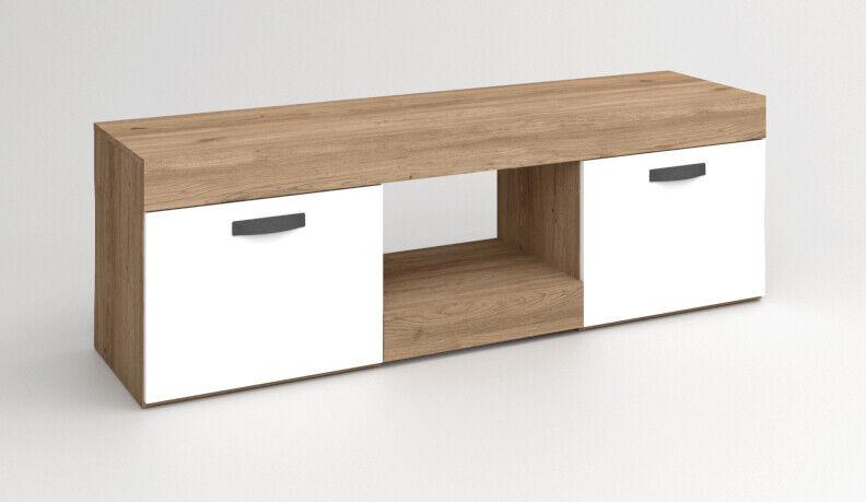 Mueble mesa tv salon comedor diseño moderno 2 puertas 1 hueco 49x150x40...