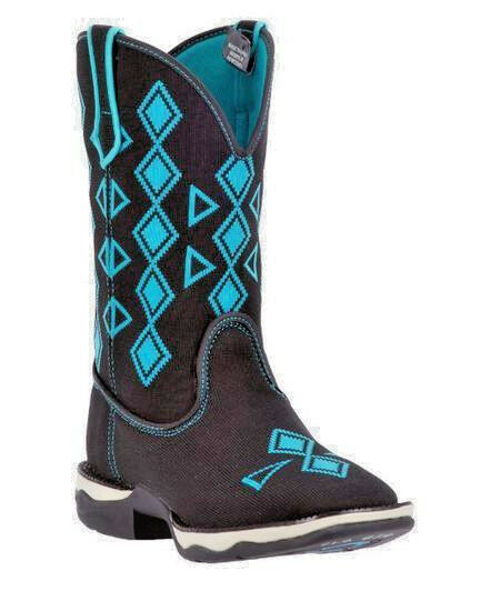 Laredo Perform Air Women's Boots woven square toe washable western cowboy teal