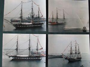 8x10 Historical Photo e990 USS Constitution sets sail in Boston 1997