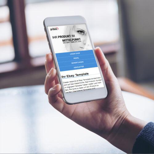 Template 2019 vorlage Auktionsvorlage Vorlage Responsive Design blau