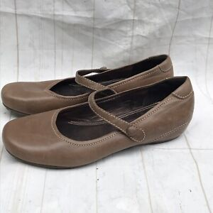 ECCO-Brown-Leather-Mary-Jane-Comfort-Shoes-Women-s-Size-6-6-5-EUR-37
