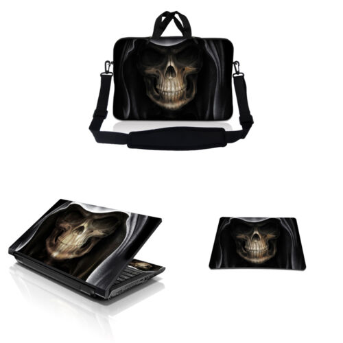 """15.6/"""" Laptop Messenger Bag Case w Shoulder Strap /& Matching Skin /& Mouse Pad I"""