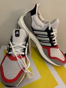 Seminario notificación Tres  NIB Adidas UltraBOOST S&L Men's 6 UK 5.5 Women's 7 EF2027 White Grey  Scarlet | eBay