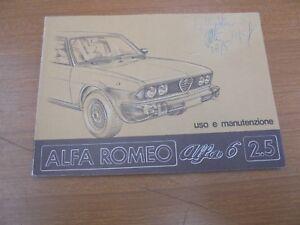 ALFA-ROMEO-ALFA-6-2500-FOLLETO-DE-USO-Y-MANTENIMIENTO-ORIGINAL