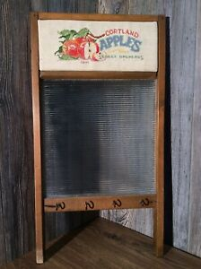 Antique-Washboard-Key-Rack-Embroidered-Marquis-Wash-Board-A9