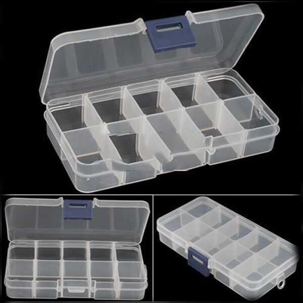New Empty Storage Container Box Case for Nail Art Tips Rhinestone Gems N3c FAAU