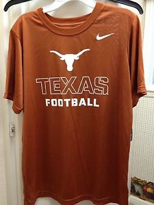 fea7d5d5 Texas Longhorns Nike Dri-Fit Tee Shirt NCAA Licensed Product Youth ...