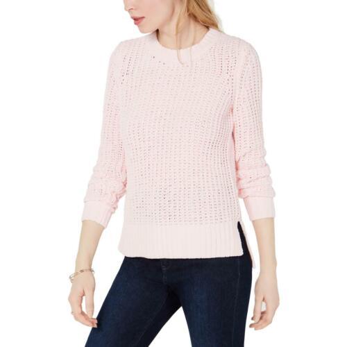 Maison Jules Womens Chenille Cable Knit Long Crewneck Sweater Top BHFO 9930