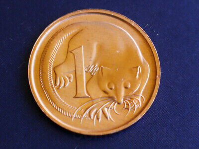1c 1989 Feathertailed Glider Australian 1 Cent Coin UNC condition in 2x2 holder