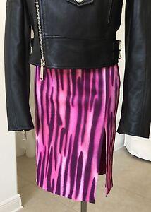Dal 1996 38 Gonna small Versace X Punk Pink taglia Jeans Couture Purple 24 wxq76pTPx