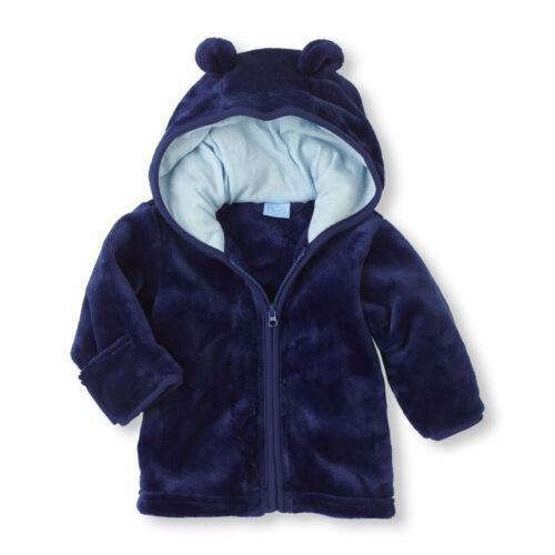 kids baby girls autum winter warm zipper Hooded Coat Outerwear Jacket
