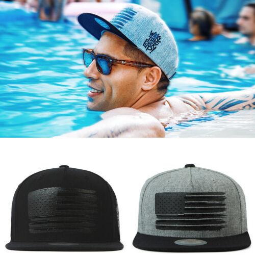 XL~2XL 60~63Cm Unisex USA Flag Print Wake Baseball Cap Snapback Hiphop K-Pop Hat