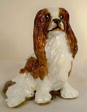 Dog Figurine Cavalier King Charles Spaniel Blenheim Sitting Onr Ogf A Kind Great