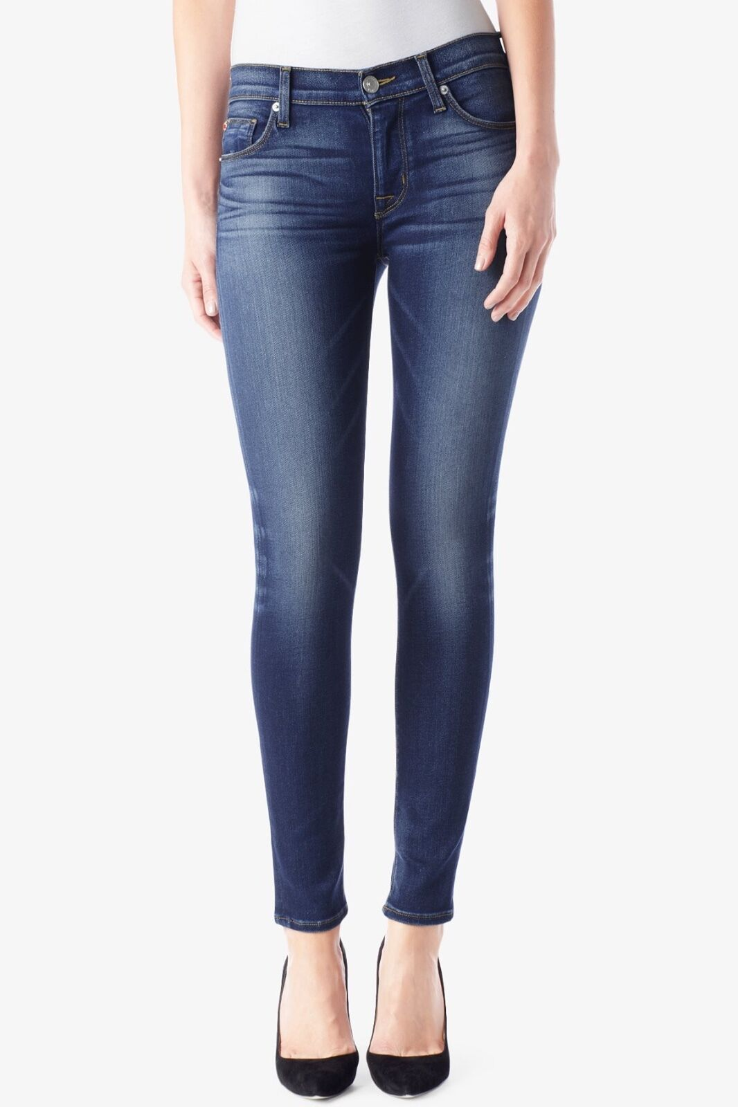 Hudson Nico Midrise Super Skinny Jeans 24 25 WM407DED BGLO