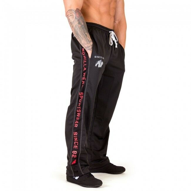 Gorilla Wear functional Mesh Pants nero Red meshpants Nero Rosso