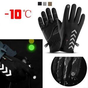 Warm Touch Screen Gloves Anti-slip Winter Thermal Bike Waterproof Windproof UK