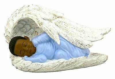 """3.5/""""x6/"""" First Christmas Baby Girl In Angel Wing African American NEW 19174"""