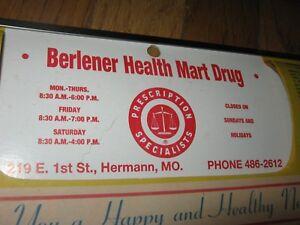 1990 Calendar.1990 Calendar Original Vintage Berlener Rexall Drugs Hermann Mo Ebay
