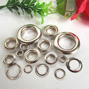 1000-4mm-20mm-Silver-Gold-Eyelets-Grommets-amp-Washers-for-Banners-Vinyl-Grommet