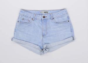 Womens-Topshop-Blue-Denim-Shorts-Size-12-L1