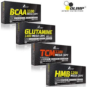BCAA-Glutamine-Tri-Creatine-Malate-TCM-HMB-120-240-Caps-Muscle-Mass-Grow