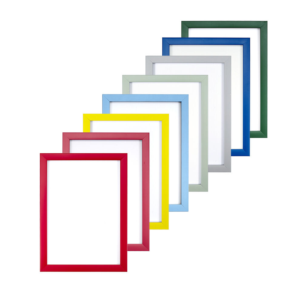 rainbow colour range picture photo poster frame fitted