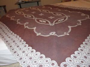 Vintage-Brown-Lace-Oblong-Rectangle-Vinyl-Tablecloth-88-034-x-58-034