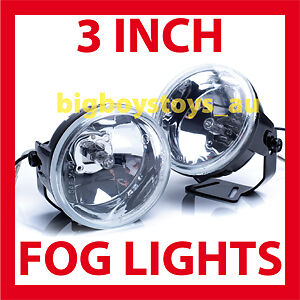 FOG-LIGHTS-3-INCH-ROUND-DRIVING-LIGHT-12V-55W-x-2-UNIVERSAL-FITTING-AUS-STOCK