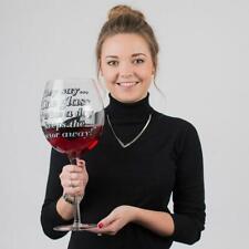 Giant Wine Glass ? Holds 3 Bottles | Extra Large Enormous Big Bottle Alcohol Dri