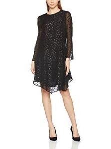 new styles 4d20e 15765 Dettagli su PEDRO DEL HIERRO vestito abito tunica donna cerimonia nero seta  chiffon Taglia M