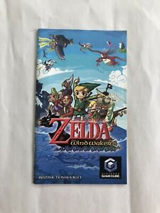 Legend-of-Zelda-Windwaker-Nintendo-Gamecube-Manual-Only-No-Game