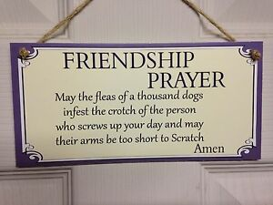 Friend friendship plaque sign funny gift friendship prayer love image is loading friend friendship plaque sign funny gift friendship prayer altavistaventures Choice Image