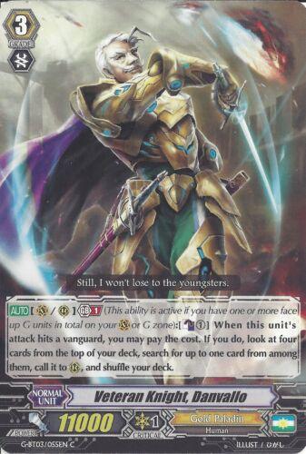 CARDFIGHT VANGUARD CARD VETERAN KNIGHT DANVALLO G-BT03//055EN C