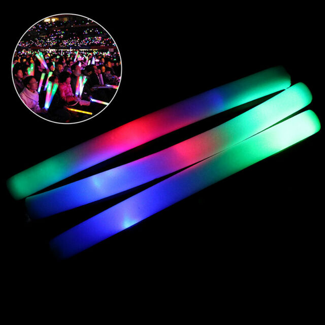 LED Toys Light Up Foam Sticks Glow Party Flashing Reuseable Luminous toy GN
