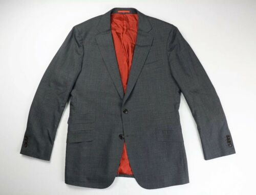Suit Supply Mens Gray Italian Wool Blazer Suit Jac