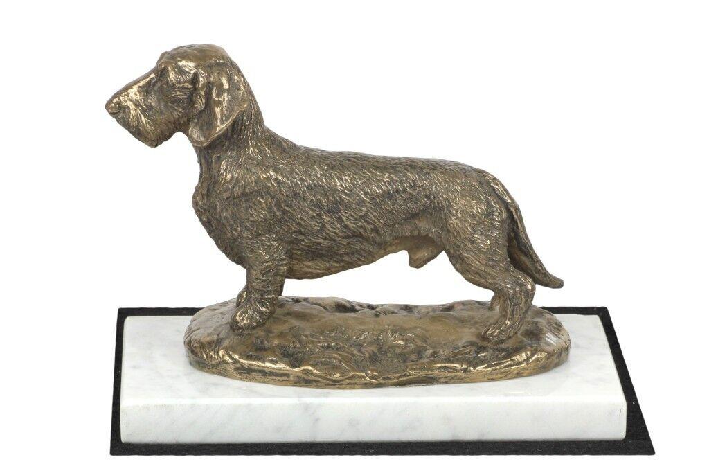 prezzo basso Dachshund - figurine made of Cold Cast Bronze Bronze Bronze on the bianca marble, Art Dog  in cerca di agente di vendita