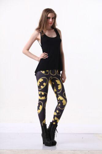 Women Legging Yellow black batman printed Leggings Galaxy leggings  S-4XL 1