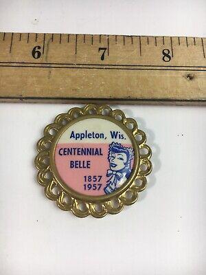 Iowa Centennial Vintage Centennial Belle Pin from Essex 1970