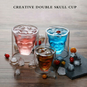 3D-Crystal-Skull-Cup-Whiskey-Wine-Beer-Glass-Drinking-Decanter-25-75-150-250ML
